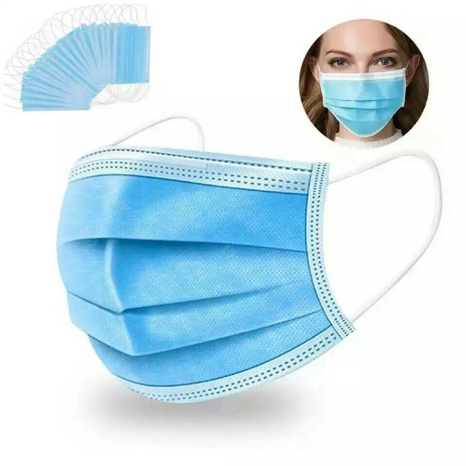 Disposable 3 ply Face Masks (facemasks)