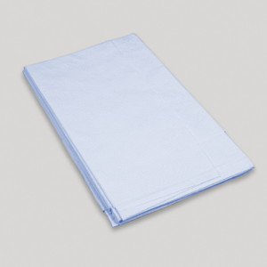 Dynarex Drape Sheets Poly / Tissue 2ply, Blue - 40 x 90