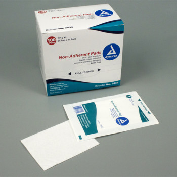 Dynarex Non Adherent Pads Sterile 3 x 4