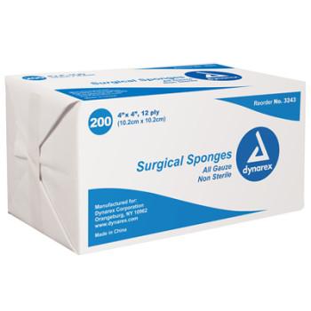 Dynarex Surgical Gauze Sponge - 4x4 12 Ply