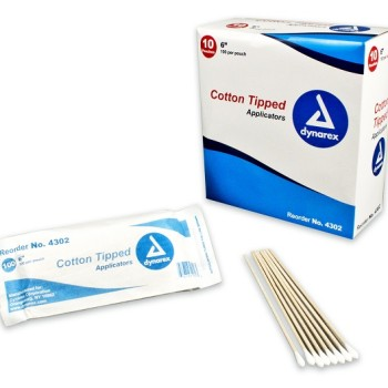 Dynarex Cotton Tipped Wood Applicators Non-sterile