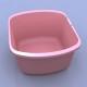 Wash basin rectangular mauve 7.4qt.