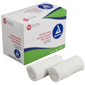 "Dynarex Conforming Stretch Gauze Bandages Roll 3"" REF 3103"