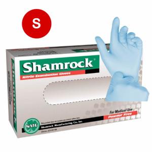Shamrock Nitrile Exam Gloves Powder Free Textured Blue 5Mil