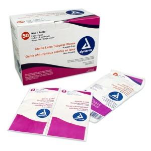 Dynarex Sterile Latex Surgical Glove Powder Free Size 7.5